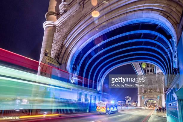 Traffic on Tower Bridge (London)