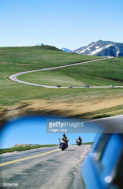 Traffic on Trail Ridge Road, Rocky Mountain National Park, Colorado, United States of America, North America