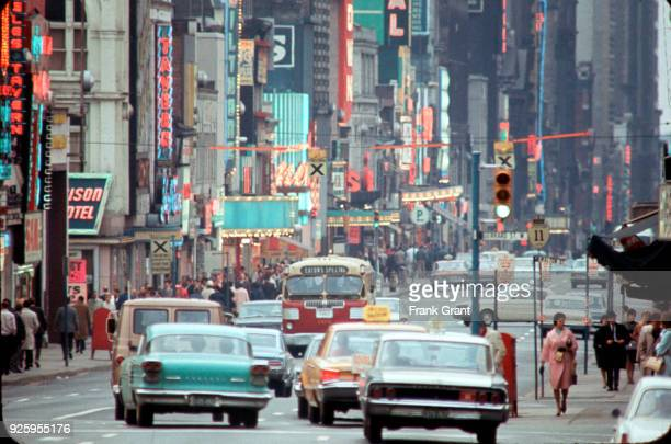 Traffic on Yonge near Gerrard Toronto 1965