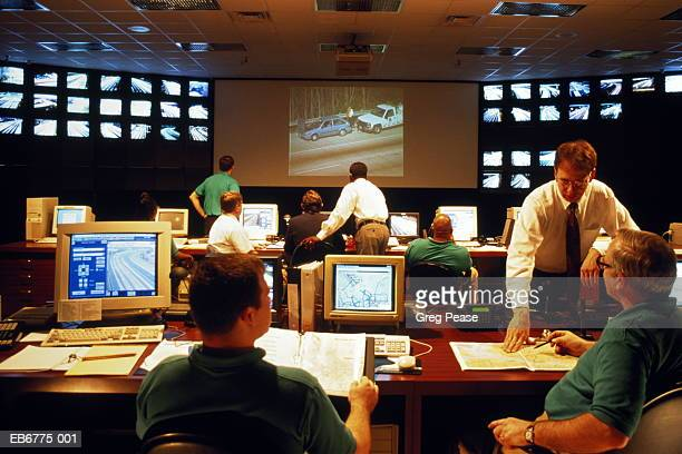 Traffic operations centre for major highway, Virginia, USA