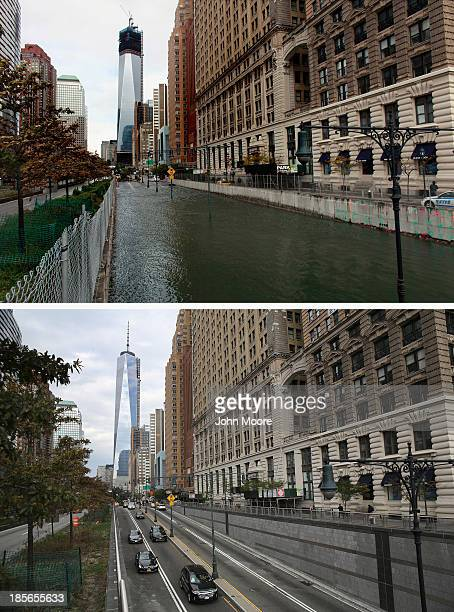 Hugh L Carey Tunnel sits flooded after a tidal surge caused by Hurricane Sandy on October 30 2012 in New York City NEW YORK NY OCTOBER 22 Traffic...