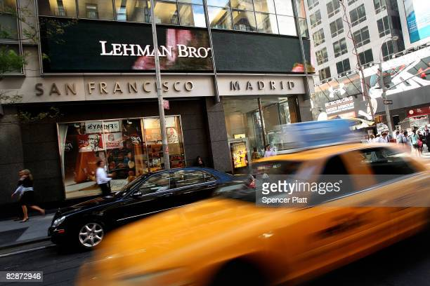 Traffic passes the Lehman Brothers building September 15 2008 in New York City Lehman Brothers filed a Chapter 11 bankruptcy petition in US...