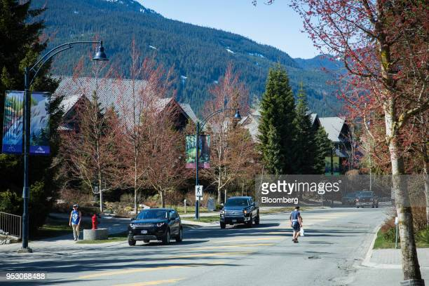Traffic passes through Whistler British Columbia Canada on Friday April 27 2018 The cost of a typical home in Whistler has more than doubled in five...