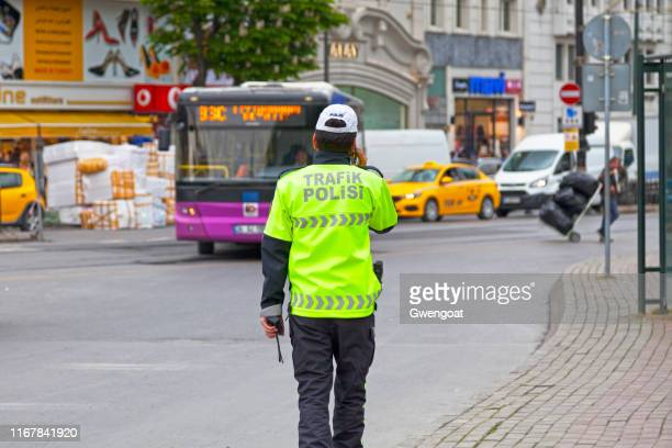 traffic police in istanbul - traffic cop stock pictures, royalty-free photos & images