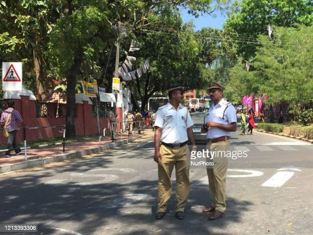 Traffic police in Thiruvananthapuram , Kerala, India, on February 11, 2020.
