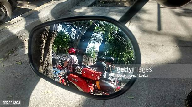 Traffic Reflecting On Side-View Mirror