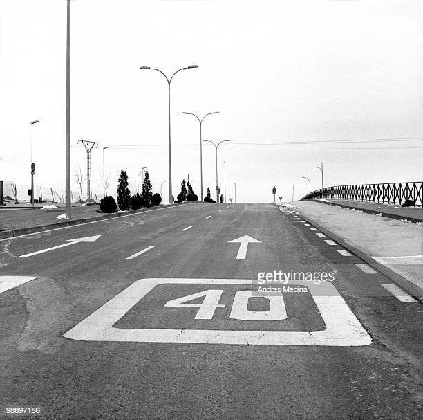 40 traffic road - number 40 stock photos and pictures