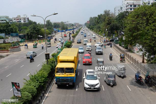 Traffic seen along Bijoy Sarani road as the government eases restrictions during the corona virus pandemic crisis. Bangladesh has confirmed 11617...