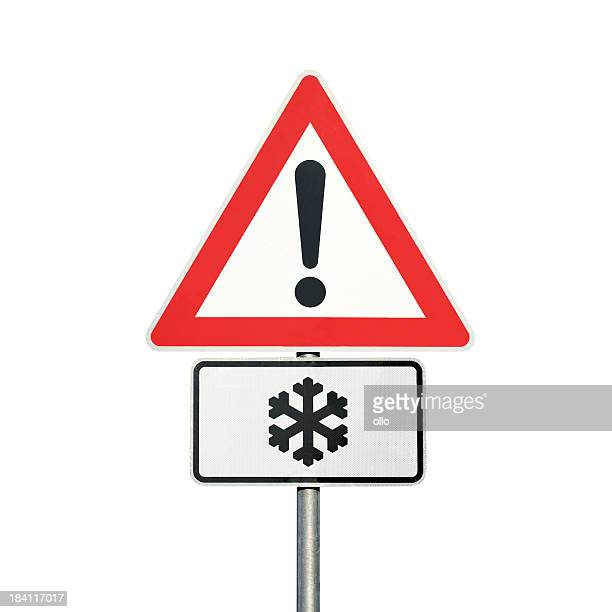 Traffic sign - Caution, Snow and ice ahead