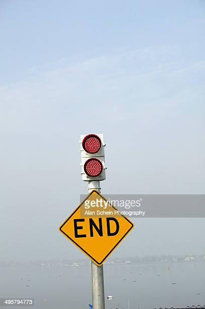 Traffic sign 'End'