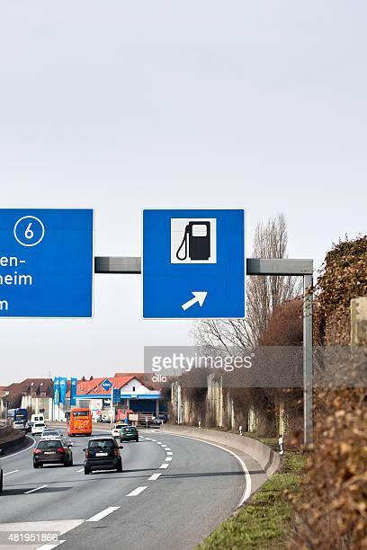 Deutsche Autobahn Traffic sign auf