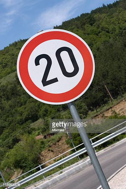 traffic sign - number 20 stock pictures, royalty-free photos & images