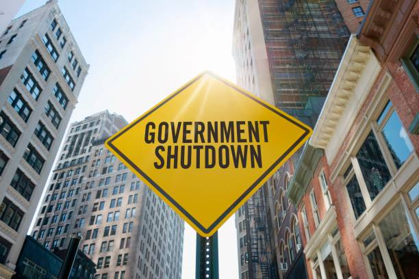 "Traffic sign quoting ""government shutdown"""