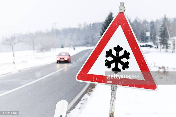 Traffic sign - Snow ahead