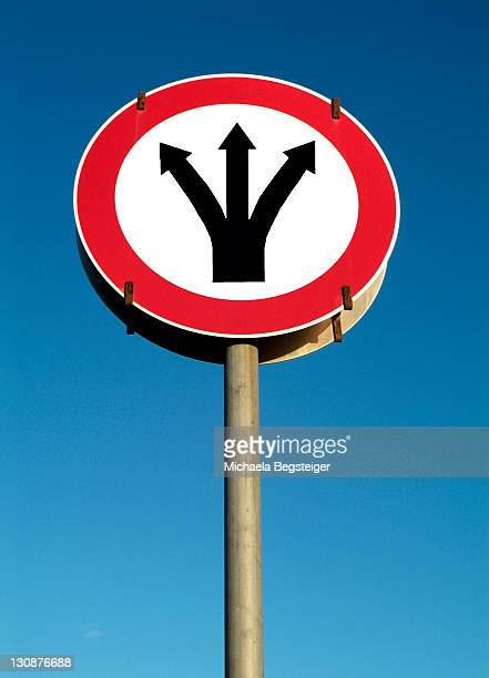 Traffic sign, symbolic for signpost