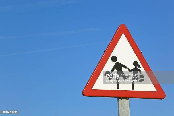 Traffic Sign Warning Of Nearby School