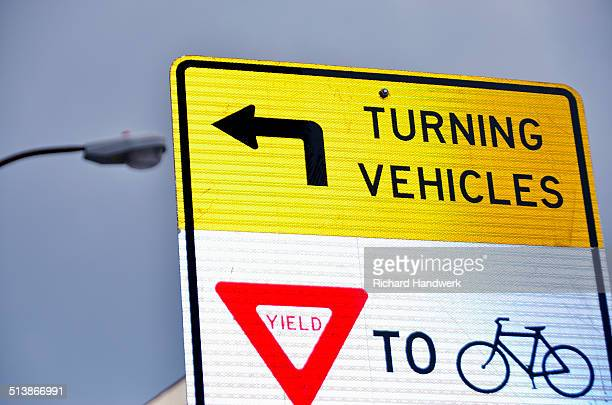traffic signage - give way stock pictures, royalty-free photos & images