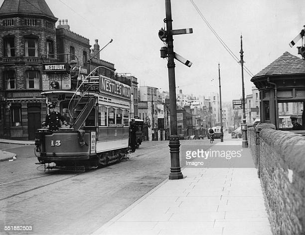 Traffic signal for the tram in Bristol 17th June 1935 Photograph