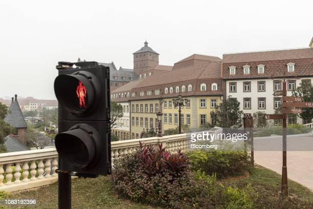 A traffic signal stands at the Huawei Technologies Co new campus in Dongguan China on Tuesday Jan 15 2019 Ren Zhengfei the billionaire founder...