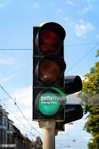 Traffic signal with green light