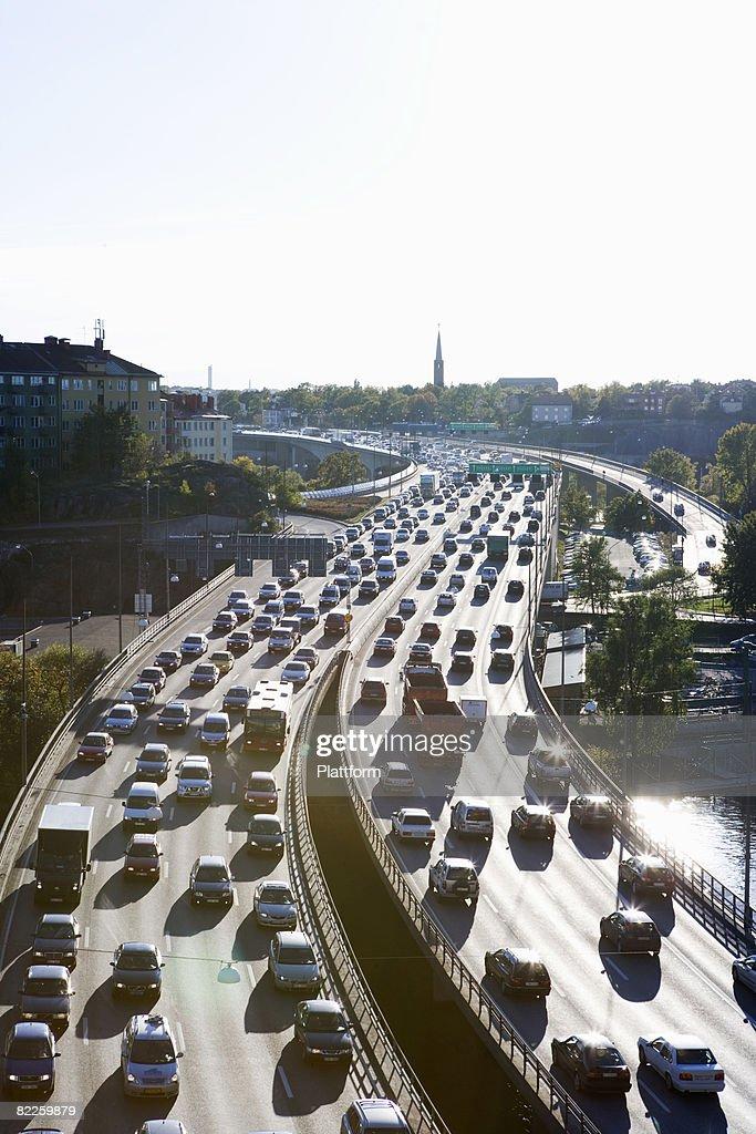 Traffic Stockholm Sweden. : Stock Photo