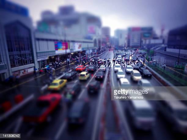 Traffic street in Shinjuku