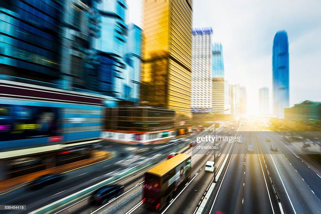 Tráfico en hong kong : Foto de stock