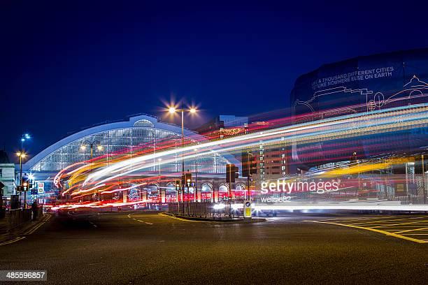 Traffic trails in Liverpool
