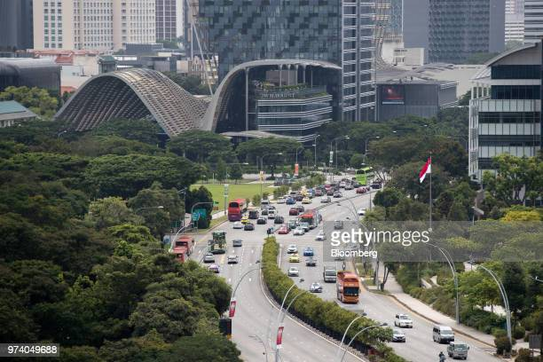 Traffic travels along a highway in Singapore on Wednesday June 13 2018 Tourism as well as the consumer sector will likely see a lift thanks to the...