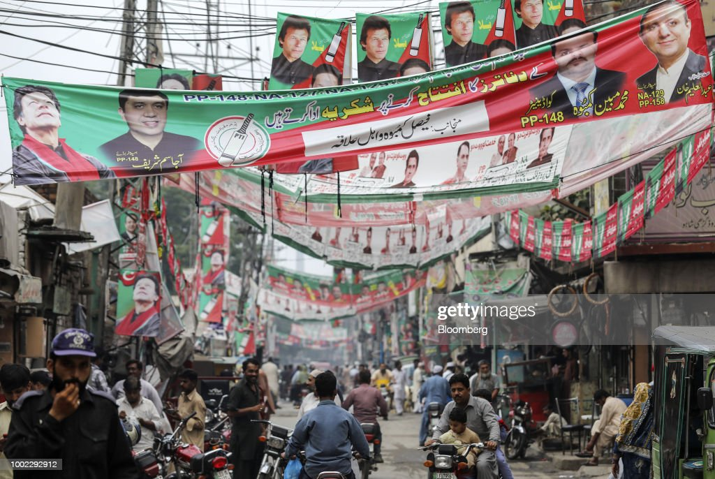 Campaign Posters In Lahore As Pakistan Prepares Ahead of Elections