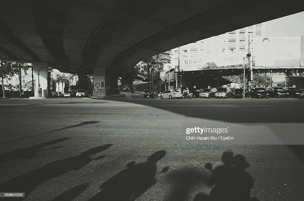 Traffic Waiting At Intersection : Foto stock