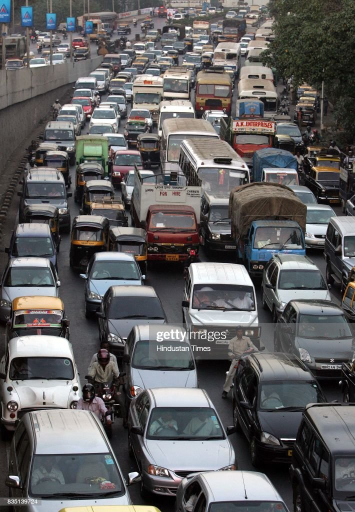 Traffic was disrupted on Monday evening due to agitation by the activists of the Maharashtra Navnirman Sena against the compulsory English Number plates on motor vehicles.