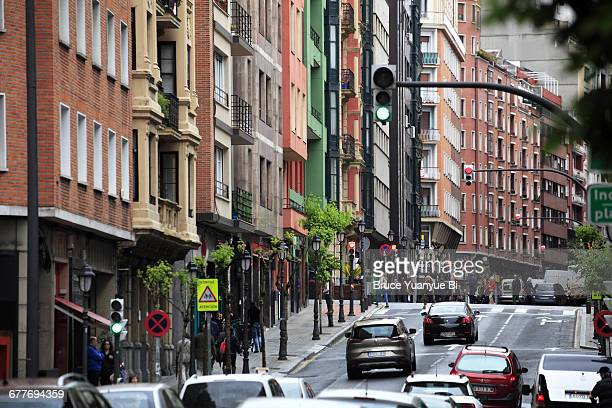 Traffics on the street of Bilbao