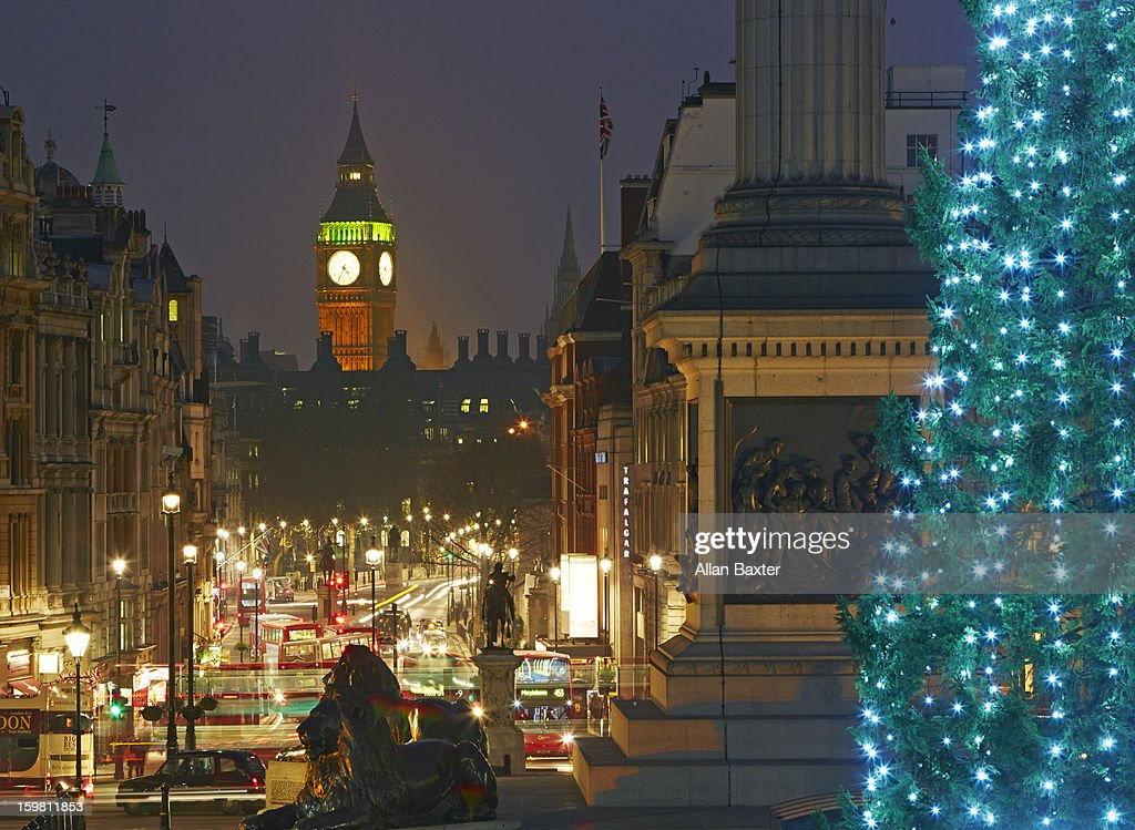 Traflager square at Christmas : Stock Photo