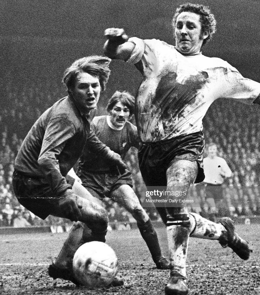 �Tragedy for Derby�s Dave Mackay as he steers the ball round his keeper Colin Boulton, only to put it in the net for Liverpool�s first goal.�