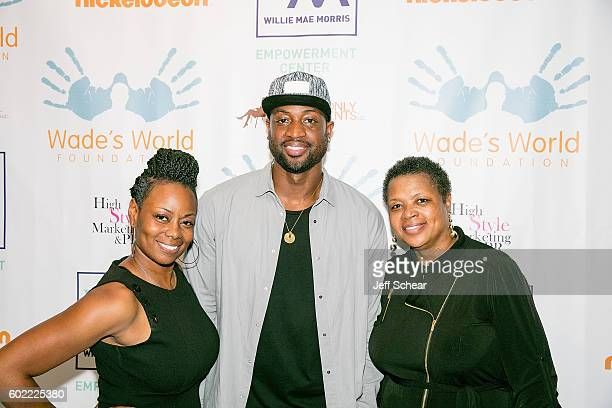 Tragil Wade Dwyane Wade and Pastor Jolinda Wade attend Nickelodeon's Road To Worldwide Day of Play With Dwyane Wade at Willie Mae Morris Empowerment...