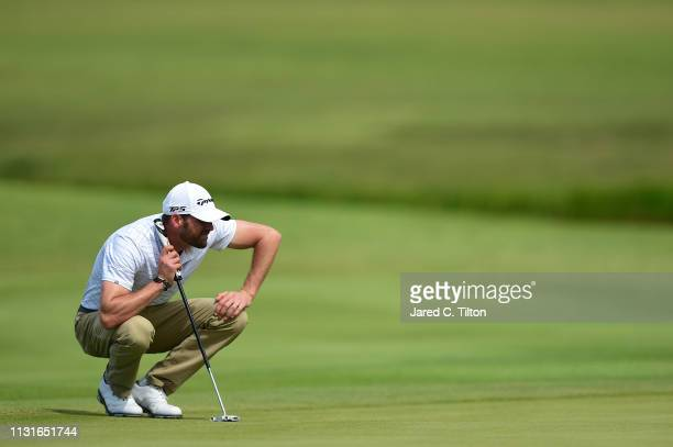 Trahan reads the second green during the third round of the Puerto Rico Open at Coco Beach Golf and Country Club on February 23 2019 in Rio Grande...