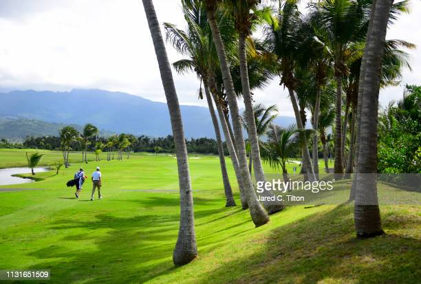 J Trahan walks the second fairway during the third round of the Puerto Rico Open at Coco Beach Golf and Country Club on February 23 2019 in Rio...