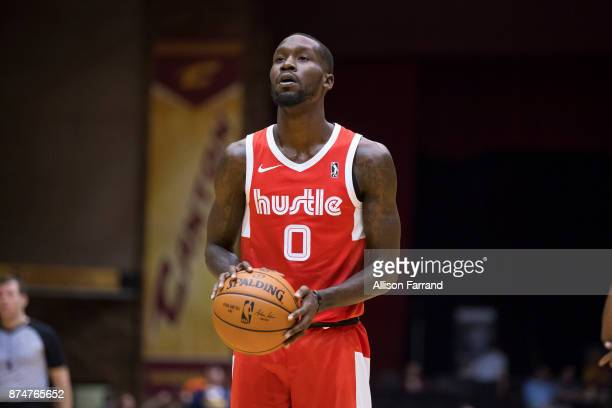 Trahson Burrell of the Memphis Hustle shoots the ball against the Canton Charge on November 15 2017 at the Canton Memorial Civic Center in Canton...