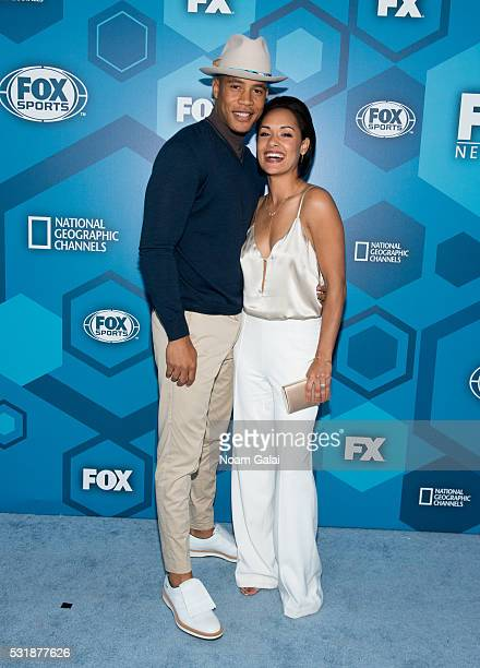 Trai Byers and Grace Gealey attend the 2016 Fox Upfront at Wollman Rink Central Park on May 16 2016 in New York City