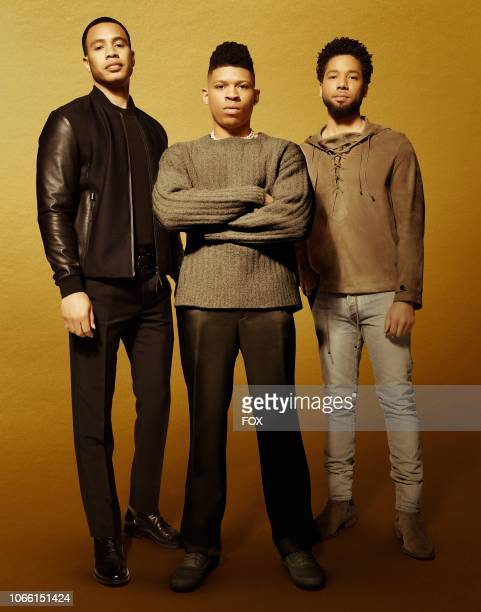 Trai Byers as Andre Lyon Bryshere Y Gray as Hakeem Lyon and Jussie Smollett as Jamal Lyon in Season Five of EMPIRE premiering Wednesday Sept 26 on FOX