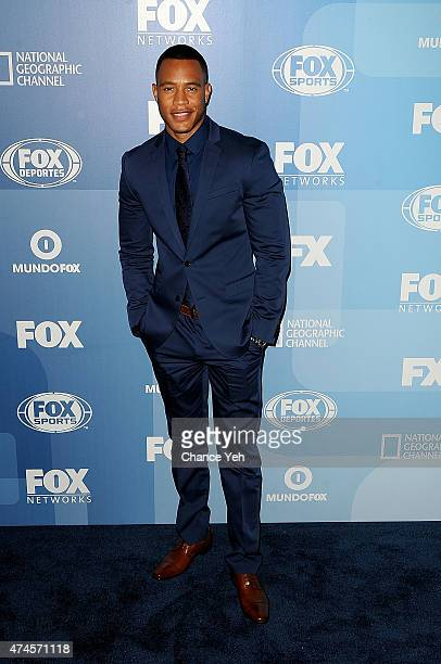 Trai Byers attends 2015 FOX Programming Presentation at Wollman Rink Central Park on May 11 2015 in New York City