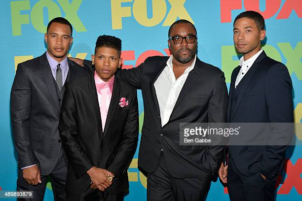 Trai Byers Bryshere Gray Lee Daniels and Jussie Smollet from the cast of 'EMPIRE' attend the FOX 2014 Programming Presentation at the FOX Fanfront on...