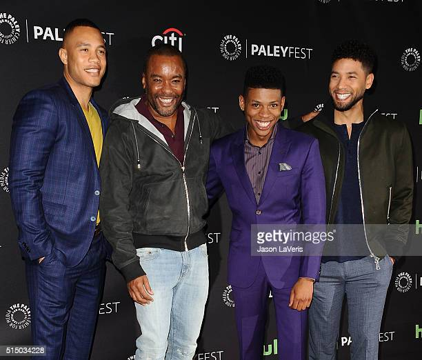 Trai Byers Lee Daniels Bryshere Y Gray and Jussie Smollett attend the Empire event at the 33rd annual PaleyFest at Dolby Theatre on March 11 2016 in...