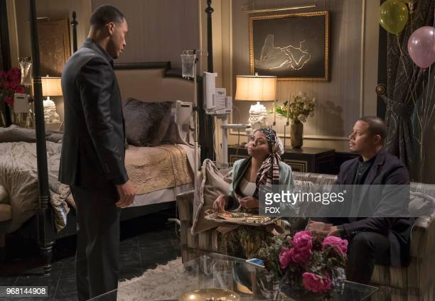 Trai Byers Taraji P Henson and Terrence Howard in the 'Sweet Sorrow episode of EMPIRE airing Wednesday April 11 on FOX