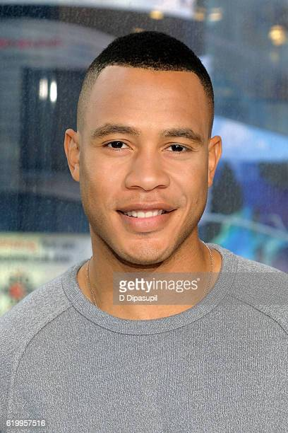 Trai Byers visits Extra at their New York studios at HM in Times Square on November 1 2016 in New York City