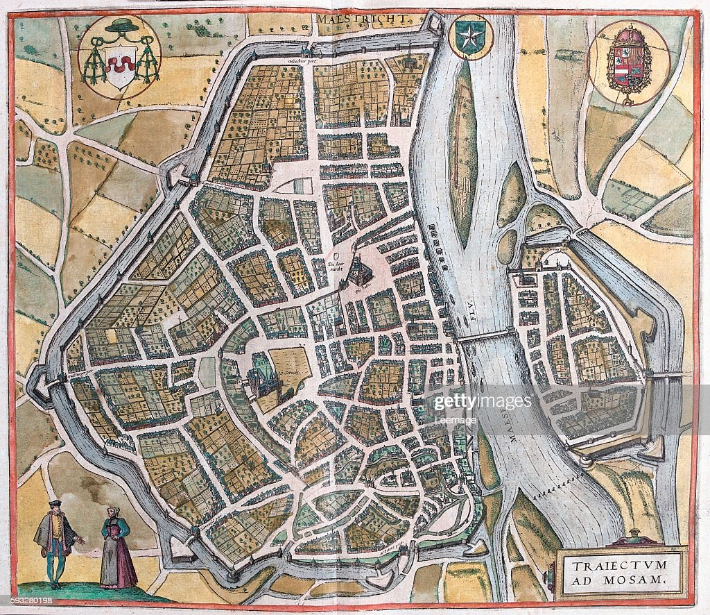 Map of Maastricht from Civitates Orbis Terrarum Pictures Getty Images