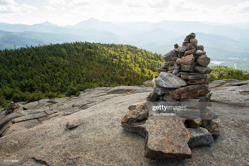 Trail Marker to Cascade Mountain : Stock Photo