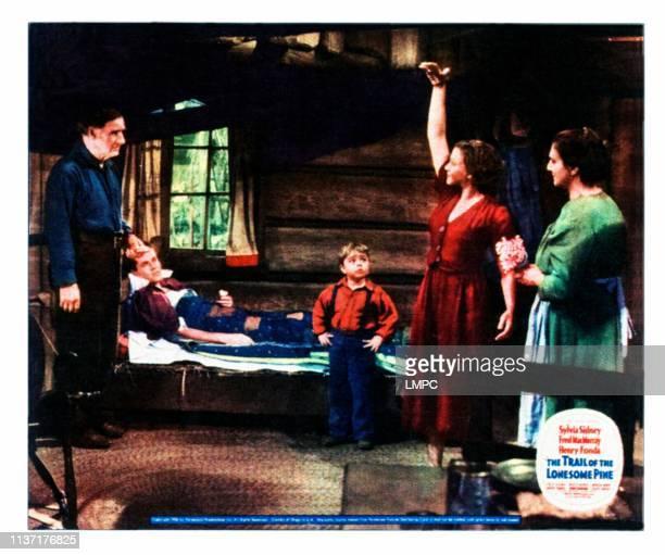 Trail Of The Lonesome Pine, lobbycard, from left: Fred Stone, Henry Fonda, Spanky McFarland, Sylvia Sidney, Beulah Bondi on jumbo lobbycard, 1936.