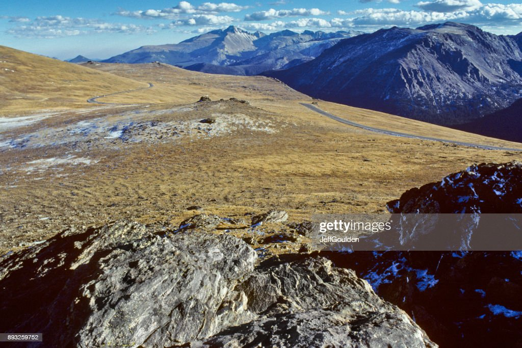 Trail Ridge Road on the Continental Divide : Stock Photo
